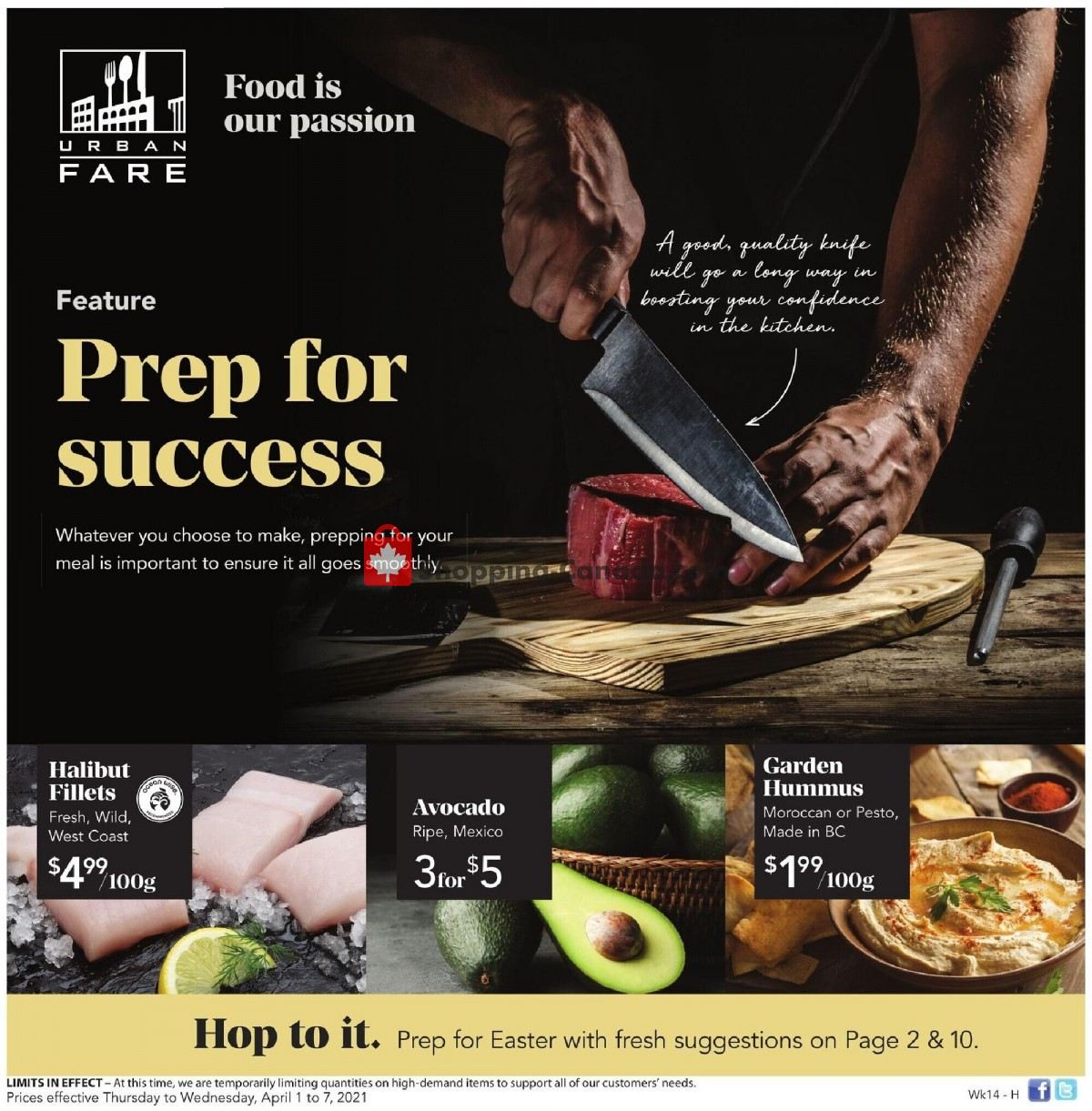Flyer Urban Fare Canada - from Thursday April 1, 2021 to Wednesday April 7, 2021