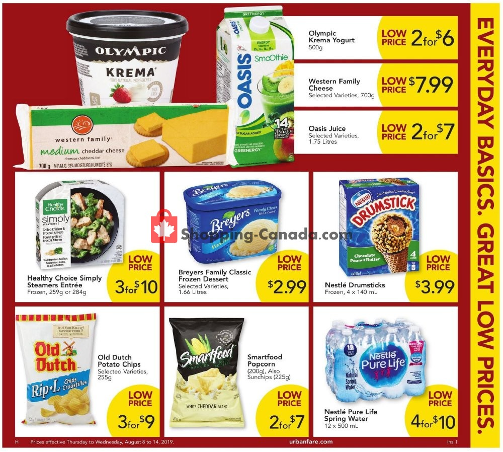 Flyer Urban Fare Canada - from Thursday August 8, 2019 to Wednesday August 14, 2019