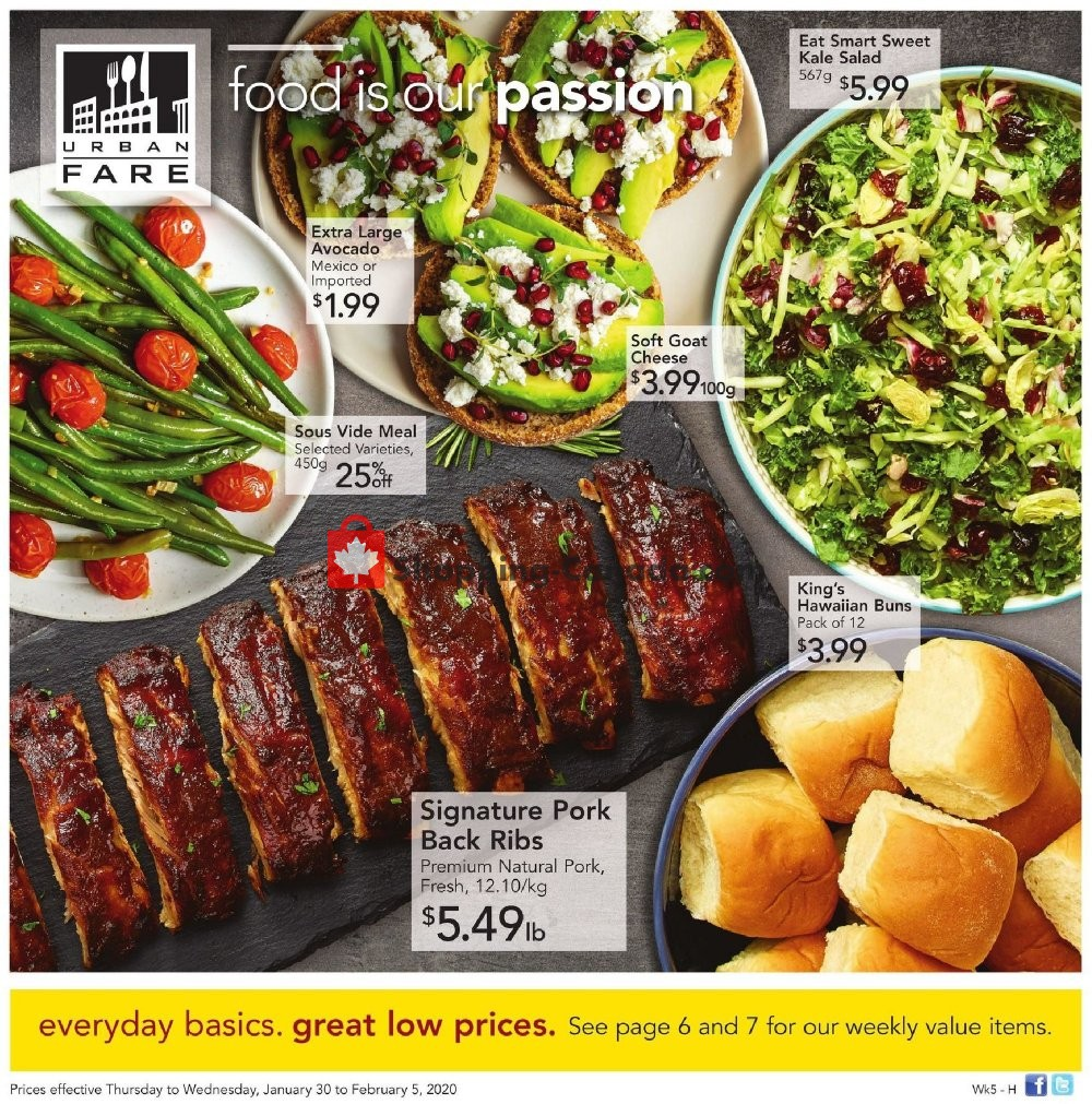Flyer Urban Fare Canada - from Thursday January 30, 2020 to Wednesday February 5, 2020
