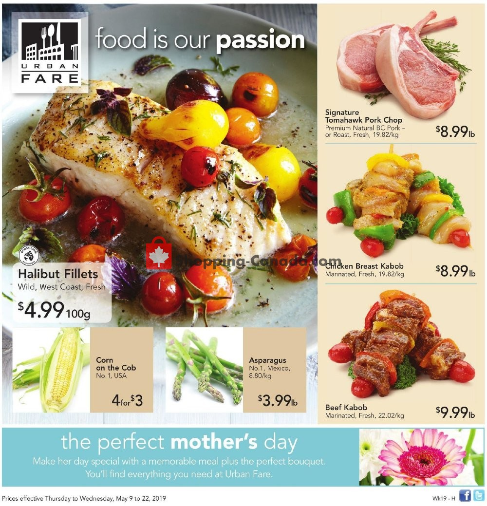 Flyer Urban Fare Canada - from Thursday May 9, 2019 to Wednesday May 22, 2019