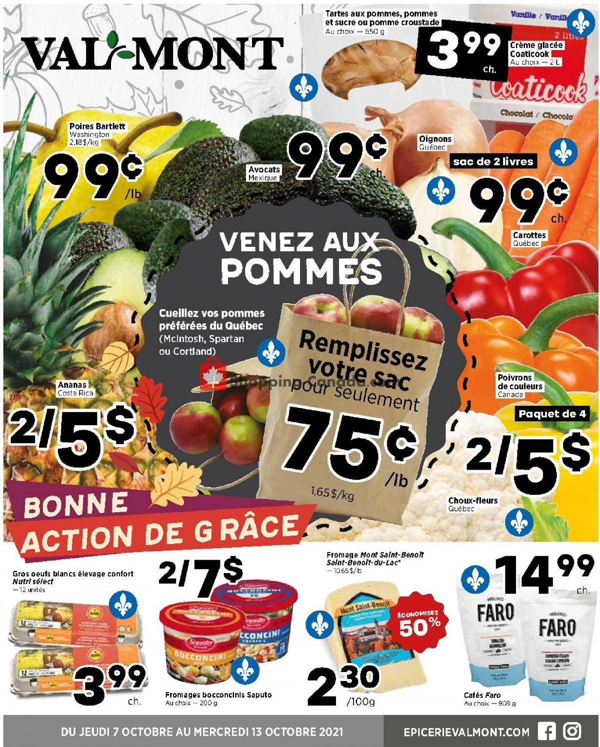 Flyer Val-Mont Canada - from Thursday October 7, 2021 to Wednesday October 13, 2021