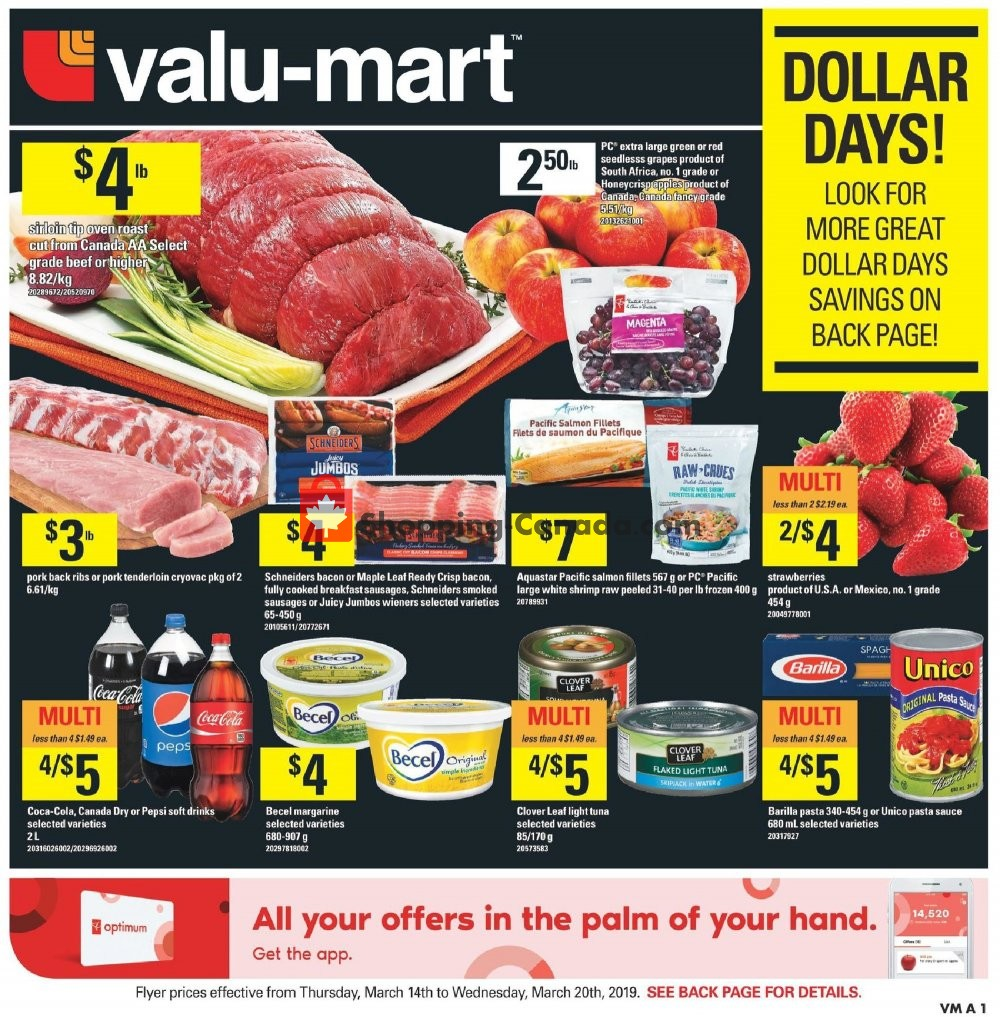 Flyer Valu Mart Canada - from Thursday March 14, 2019 to Wednesday March 20, 2019