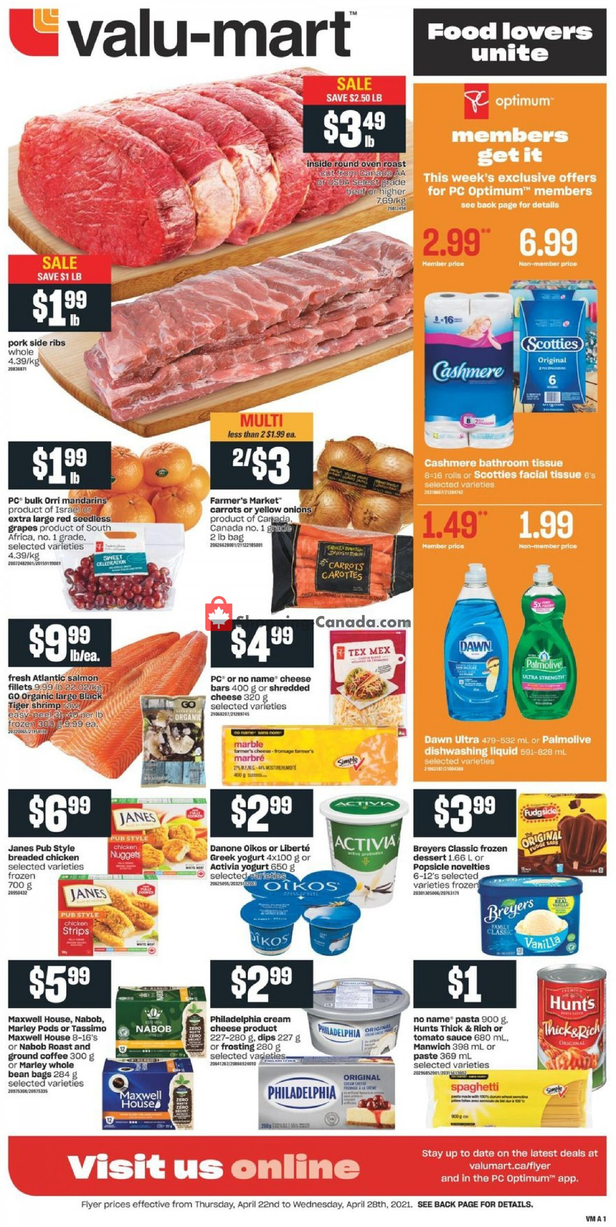 Flyer Valu Mart Canada - from Thursday April 22, 2021 to Wednesday April 28, 2021