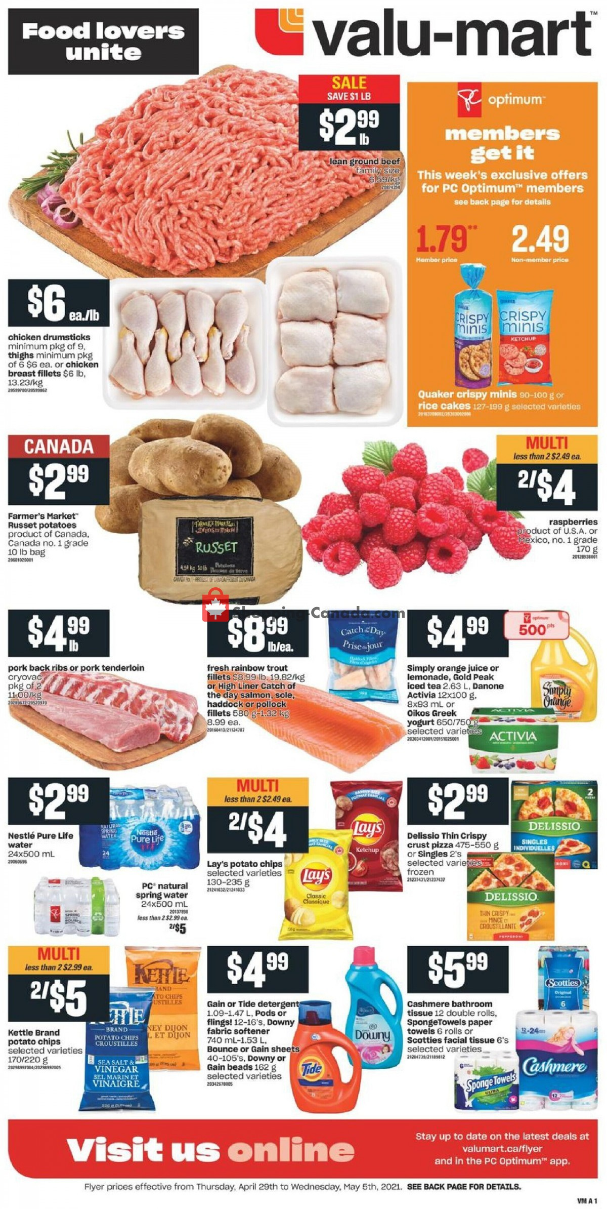Flyer Valu Mart Canada - from Thursday April 29, 2021 to Wednesday May 5, 2021