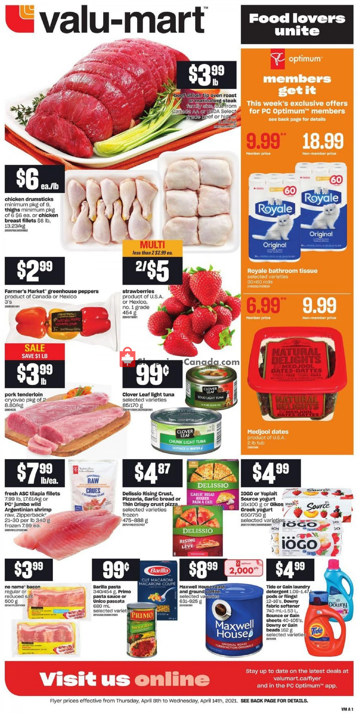 Flyer Valu Mart Canada - from Thursday April 8, 2021 to Wednesday April 14, 2021