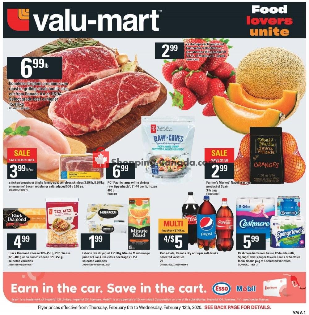 Flyer Valu-Mart Canada - from Thursday February 6, 2020 to Wednesday February 12, 2020