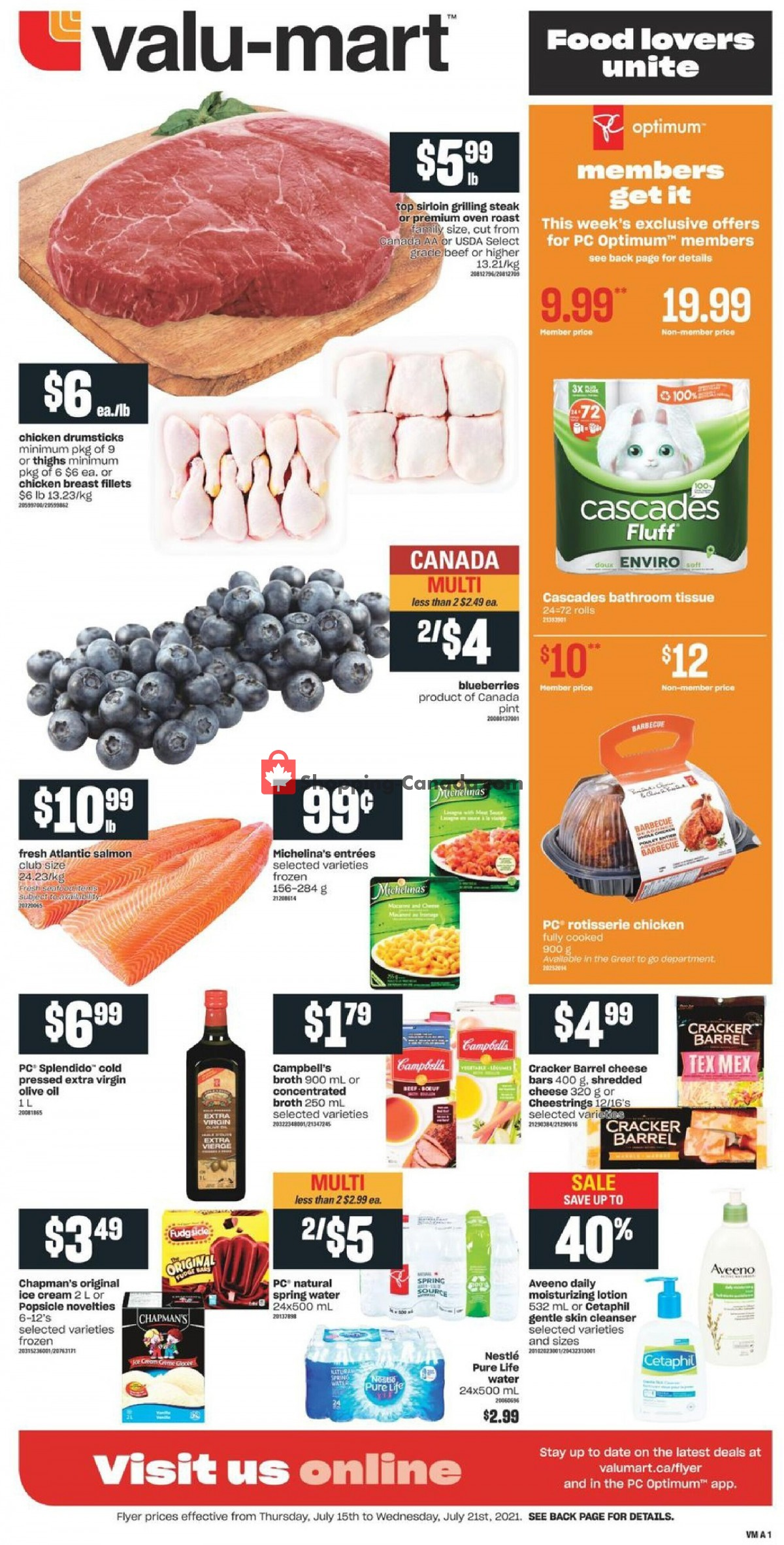 Flyer Valu Mart Canada - from Thursday July 15, 2021 to Wednesday July 21, 2021