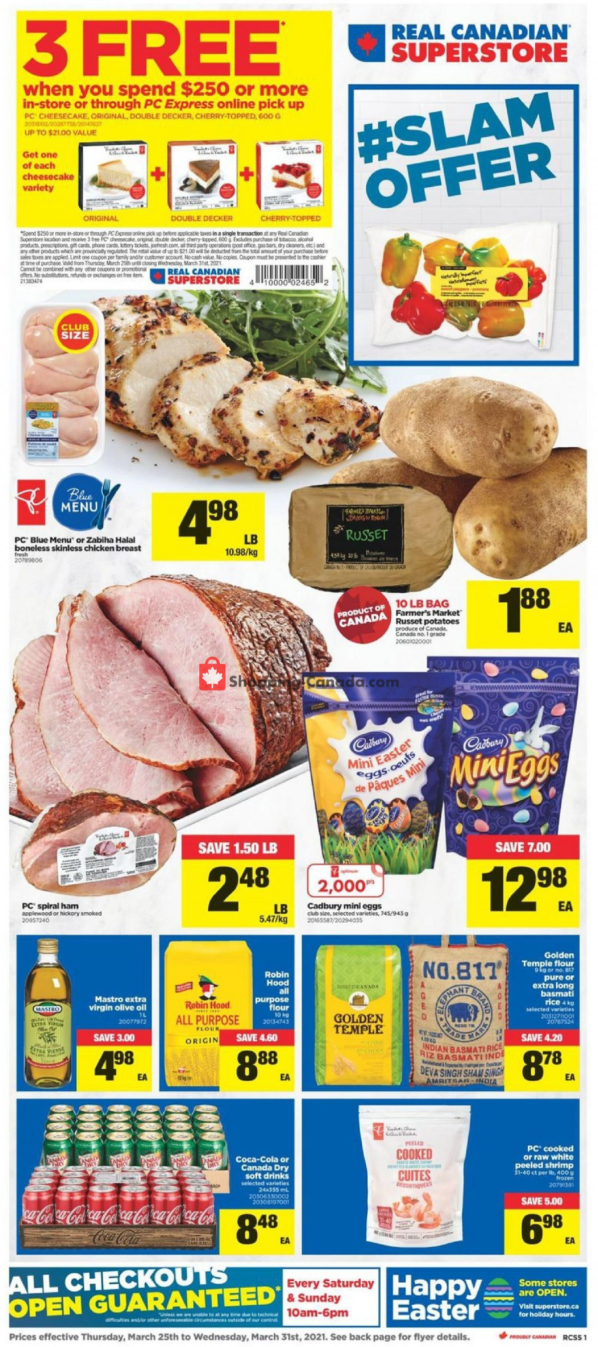 Flyer Valu Mart Canada - from Thursday March 25, 2021 to Wednesday March 31, 2021
