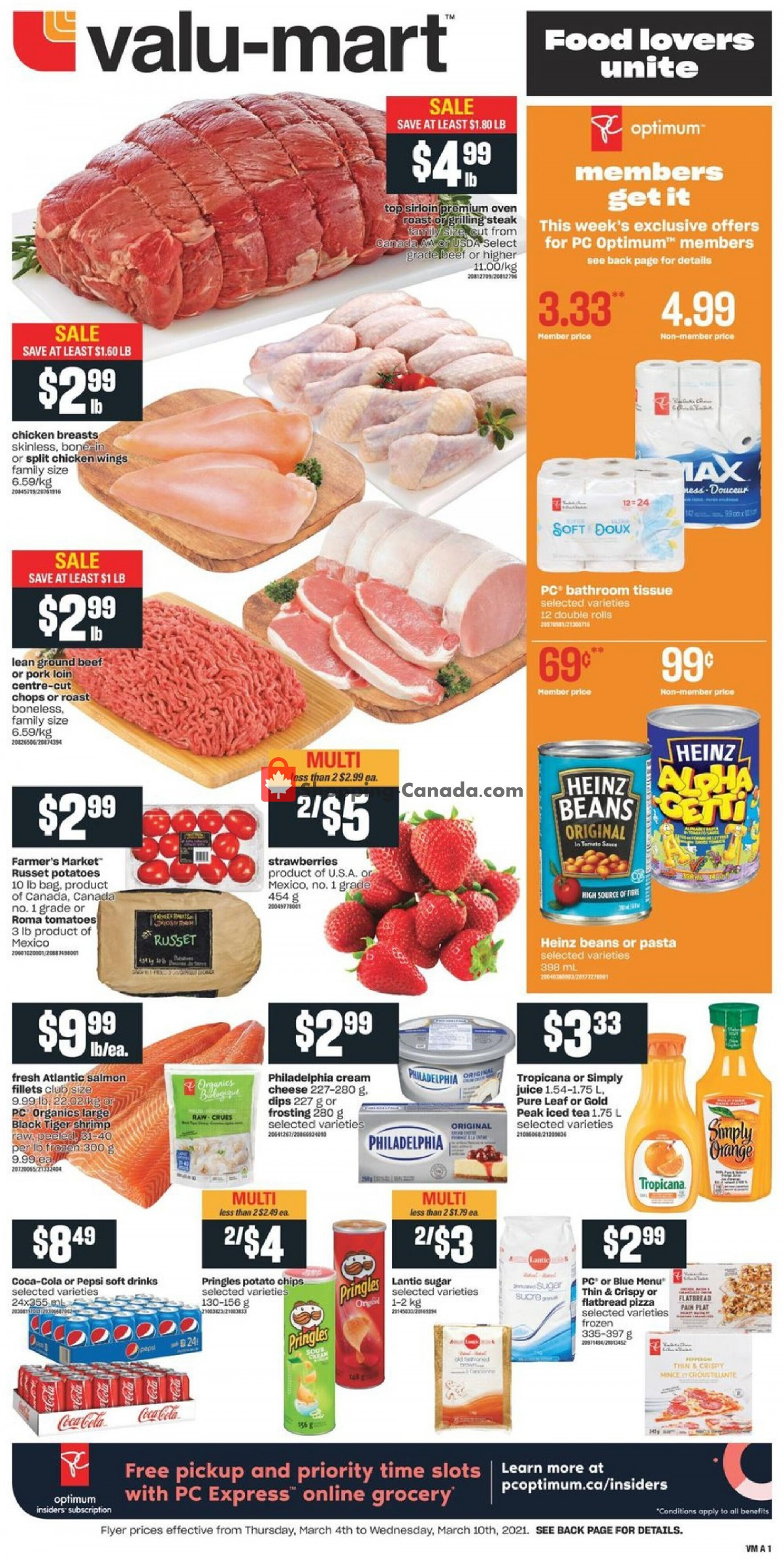 Flyer Valu Mart Canada - from Thursday March 4, 2021 to Wednesday March 10, 2021
