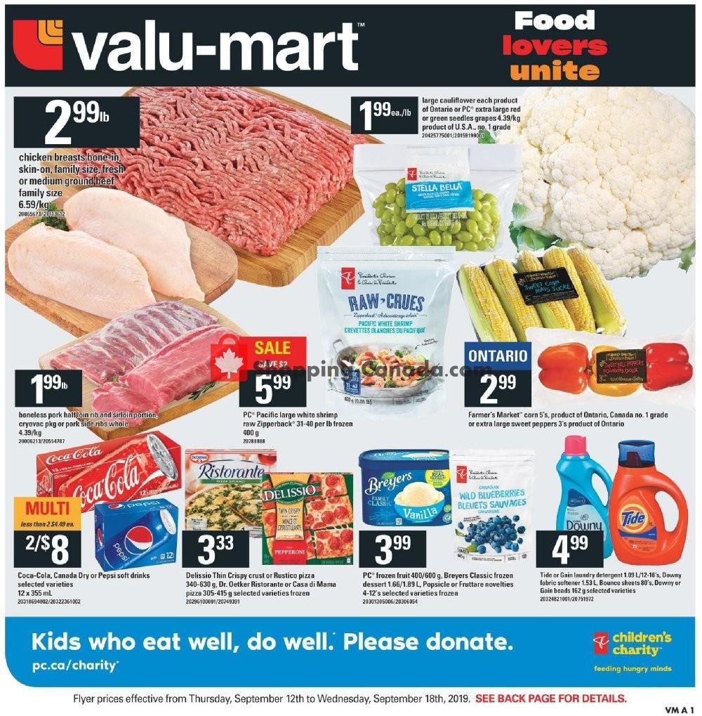 Flyer Valu Mart Canada - from Thursday September 12, 2019 to Wednesday September 18, 2019