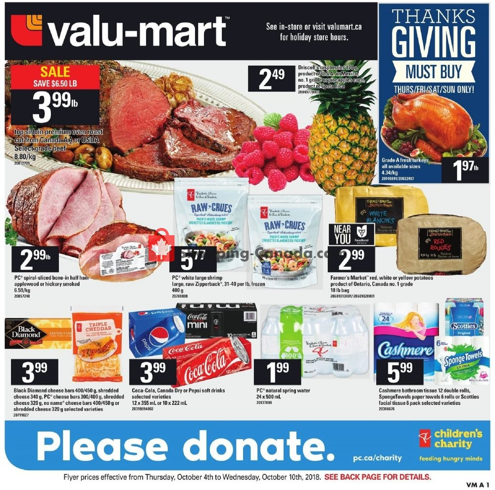 Flyer Valu Mart Canada - from Thursday October 4, 2018 to Wednesday October 10, 2018