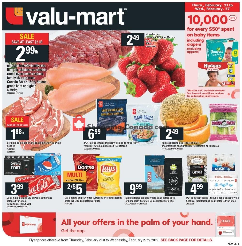 Flyer Valu Mart Canada - from Thursday February 21, 2019 to Wednesday February 27, 2019