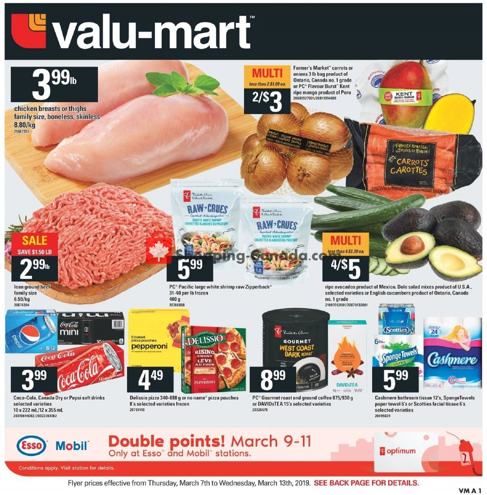 Flyer Valu Mart Canada - from Thursday March 7, 2019 to Wednesday March 13, 2019