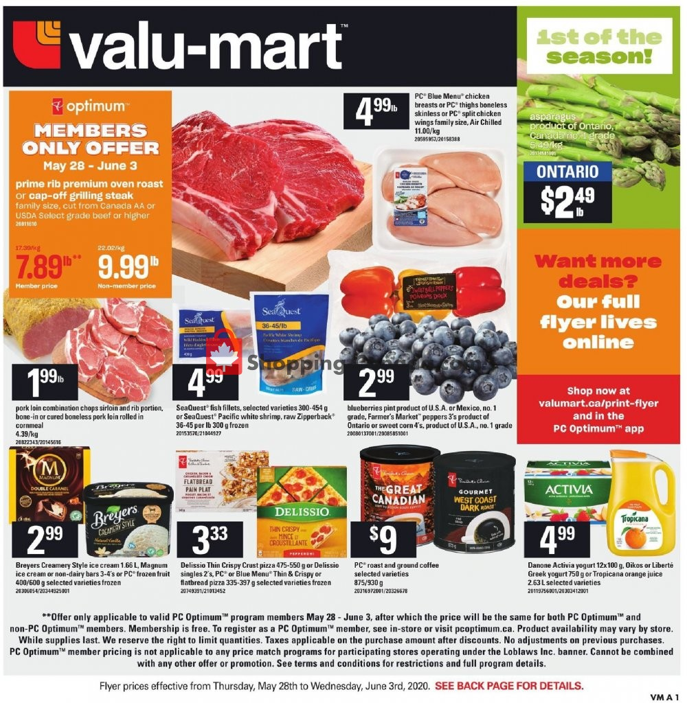 Flyer Valu Mart Canada - from Thursday May 28, 2020 to Wednesday June 3, 2020