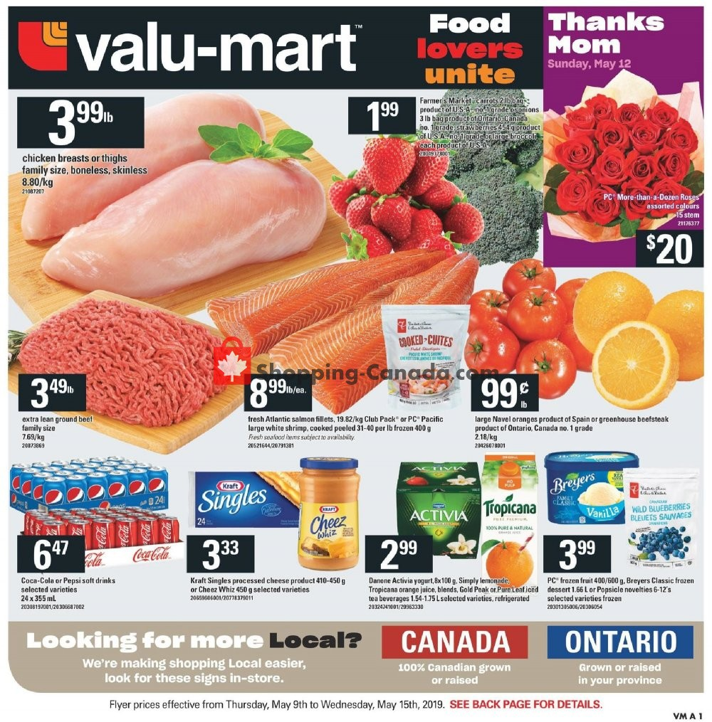 Flyer Valu Mart Canada - from Thursday May 9, 2019 to Wednesday May 15, 2019