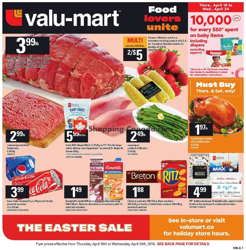 Flyer Valu Mart Canada - from Thursday April 18, 2019 to Wednesday April 24, 2019