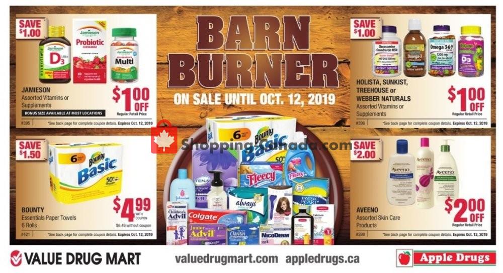 Flyer Value Drug Mart Canada - from Sunday September 15, 2019 to Saturday October 12, 2019