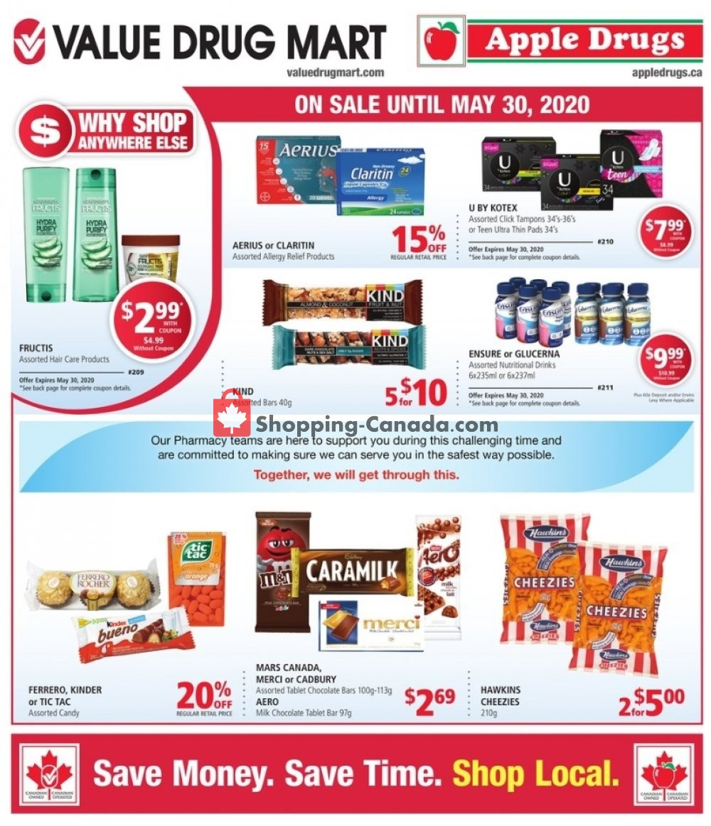 Flyer Value Drug Mart Canada - from Sunday May 24, 2020 to Saturday May 30, 2020