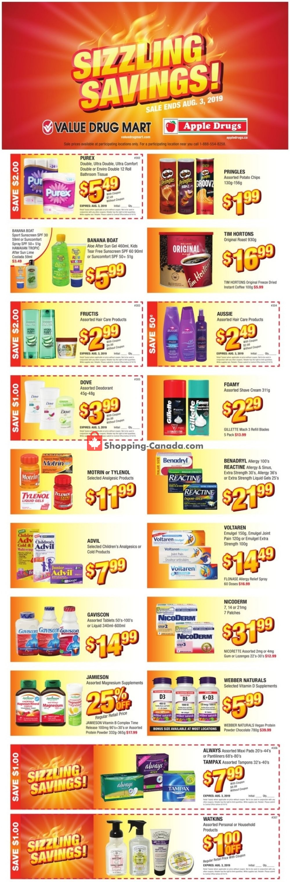 Flyer Value Drug Mart Canada - from Sunday July 21, 2019 to Saturday August 3, 2019