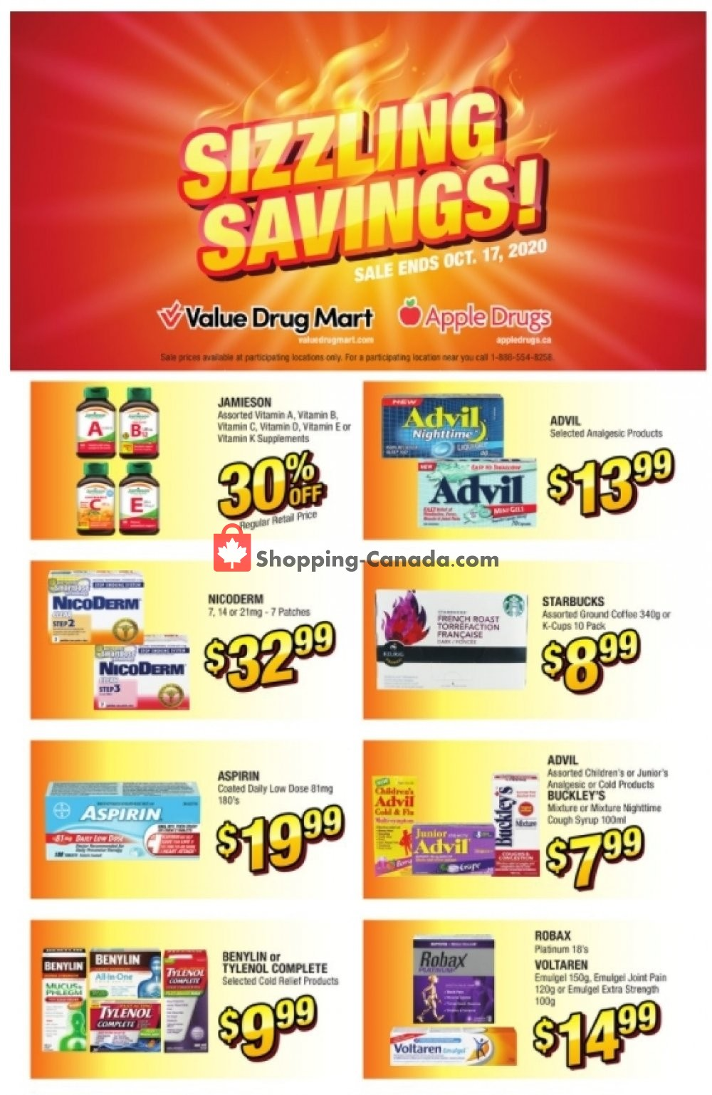 Flyer Value Drug Mart Canada - from Sunday October 11, 2020 to Saturday October 17, 2020