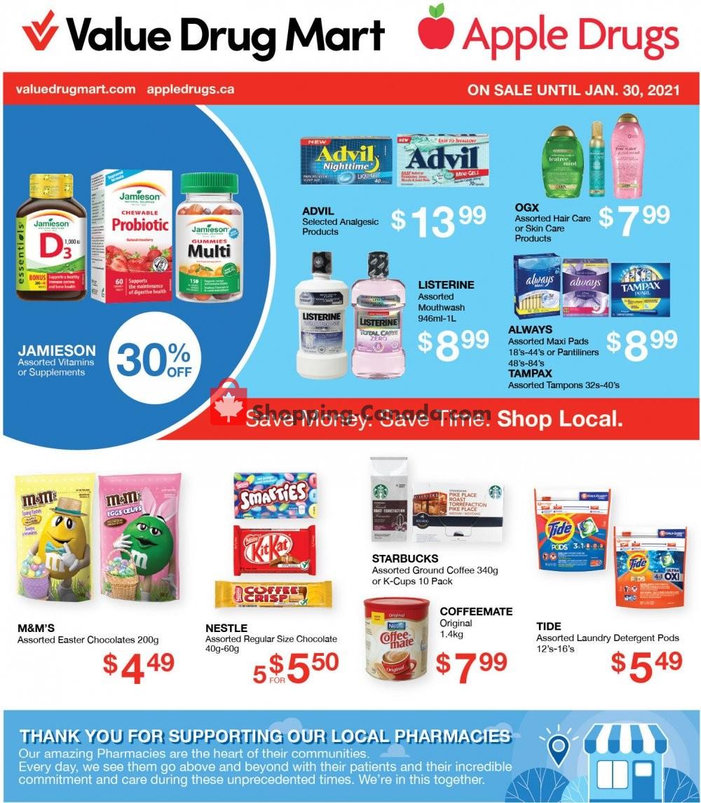 Flyer Value Drug Mart Canada - from Sunday January 17, 2021 to Saturday January 30, 2021