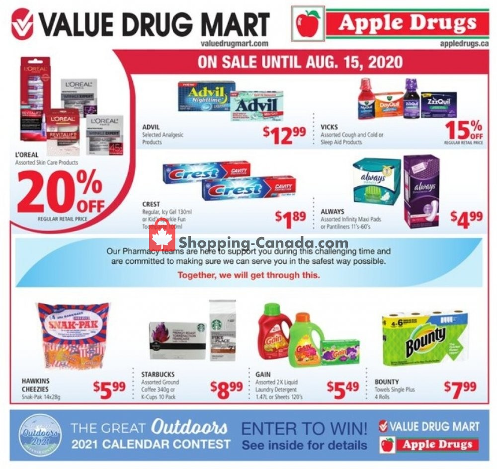 Flyer Value Drug Mart Canada - from Sunday August 2, 2020 to Saturday August 15, 2020