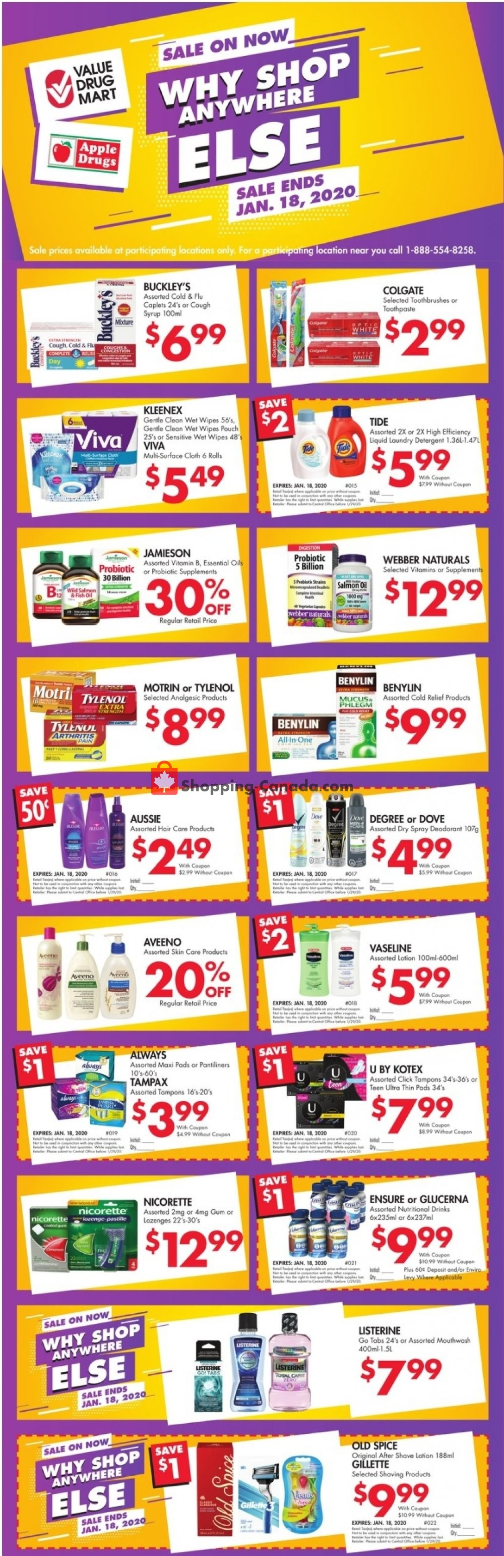 Flyer Value Drug Mart Canada - from Sunday January 12, 2020 to Saturday January 18, 2020