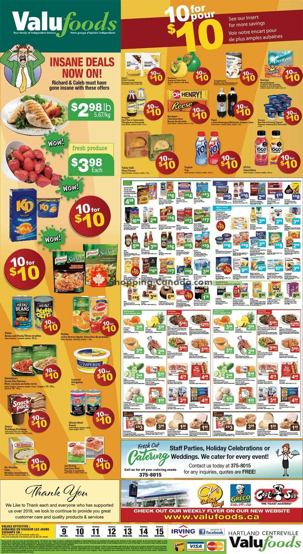 Flyer Valufoods Canada - from Thursday January 9, 2020 to Wednesday January 15, 2020
