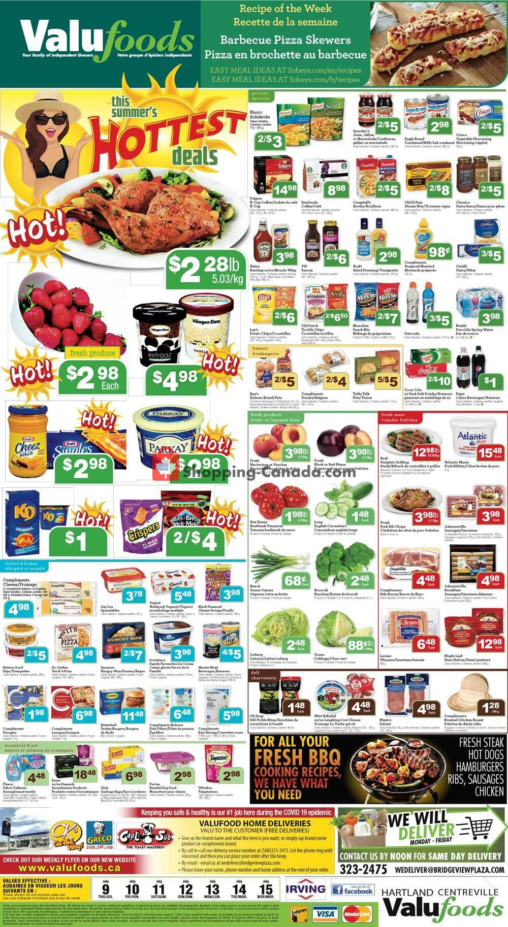 Flyer Valufoods Canada - from Thursday July 9, 2020 to Wednesday July 15, 2020