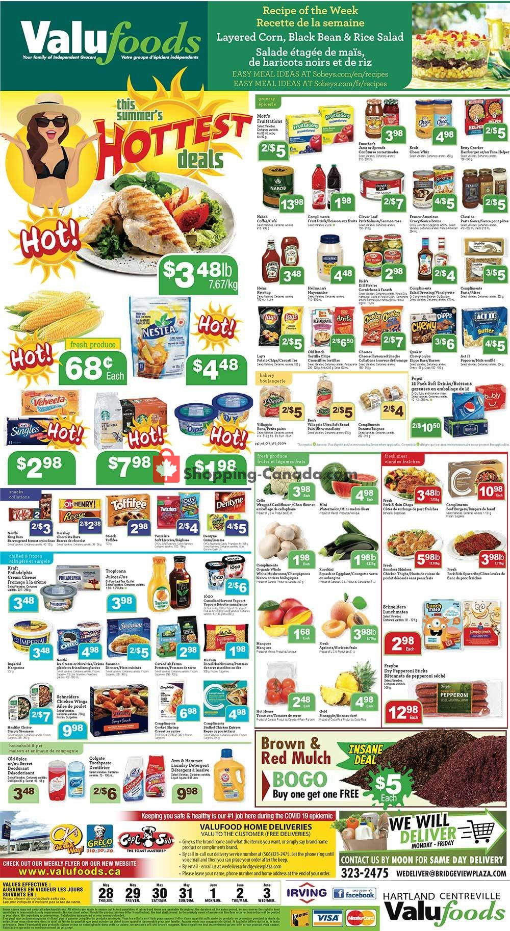 Flyer Valufoods Canada - from Thursday May 28, 2020 to Wednesday June 3, 2020