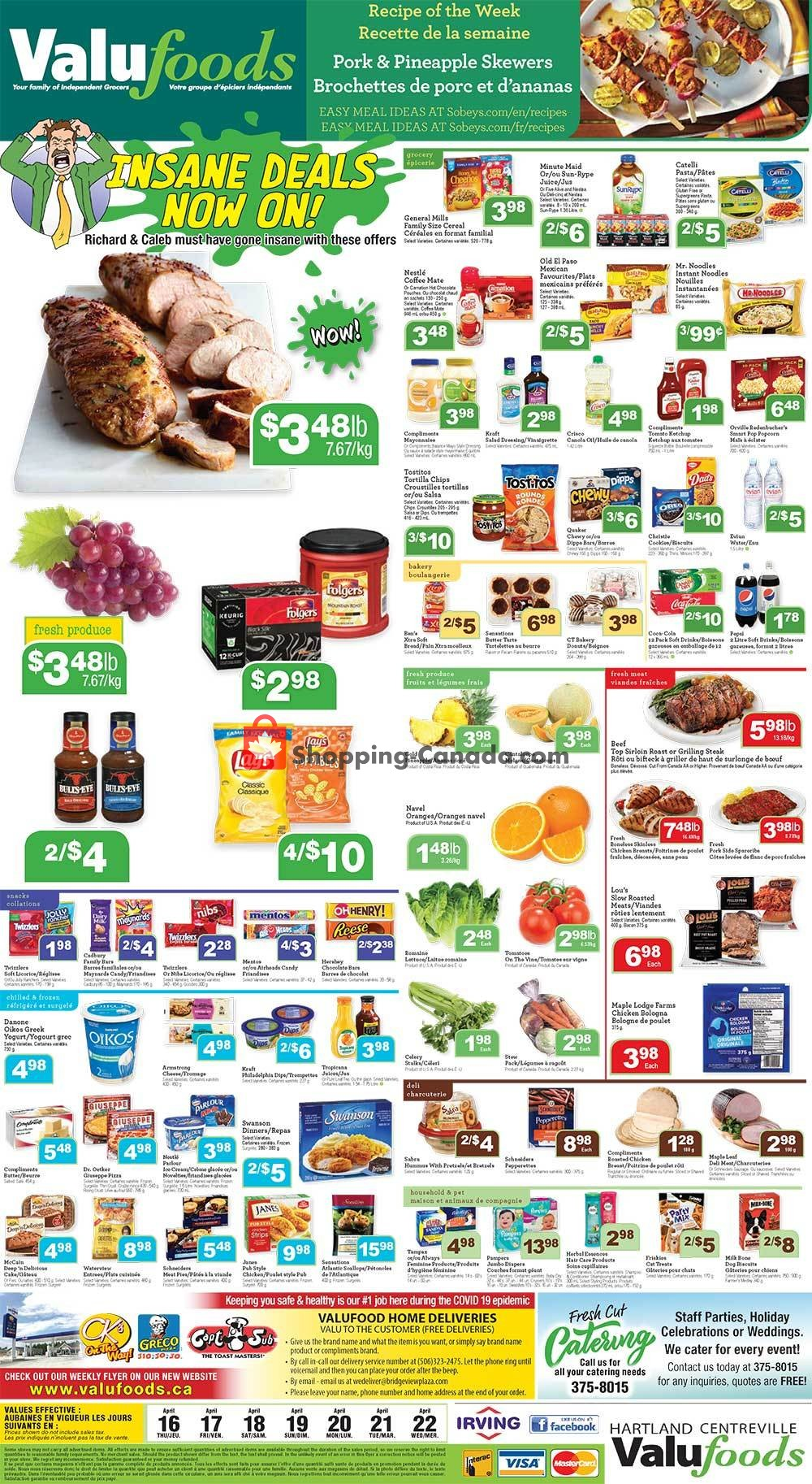 Flyer Valufoods Canada - from Thursday April 16, 2020 to Wednesday April 22, 2020