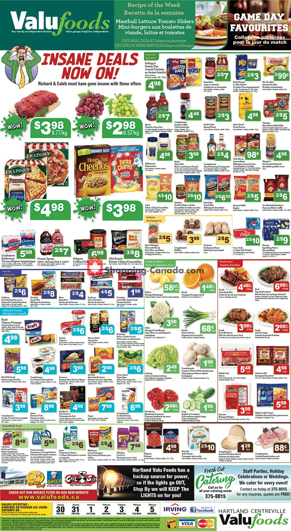 Flyer Valufoods Canada - from Thursday January 30, 2020 to Wednesday February 5, 2020