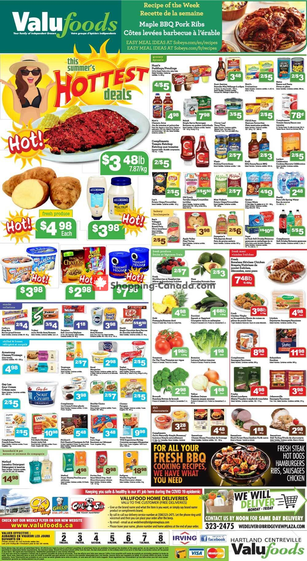 Flyer Valufoods Canada - from Thursday July 2, 2020 to Wednesday July 8, 2020