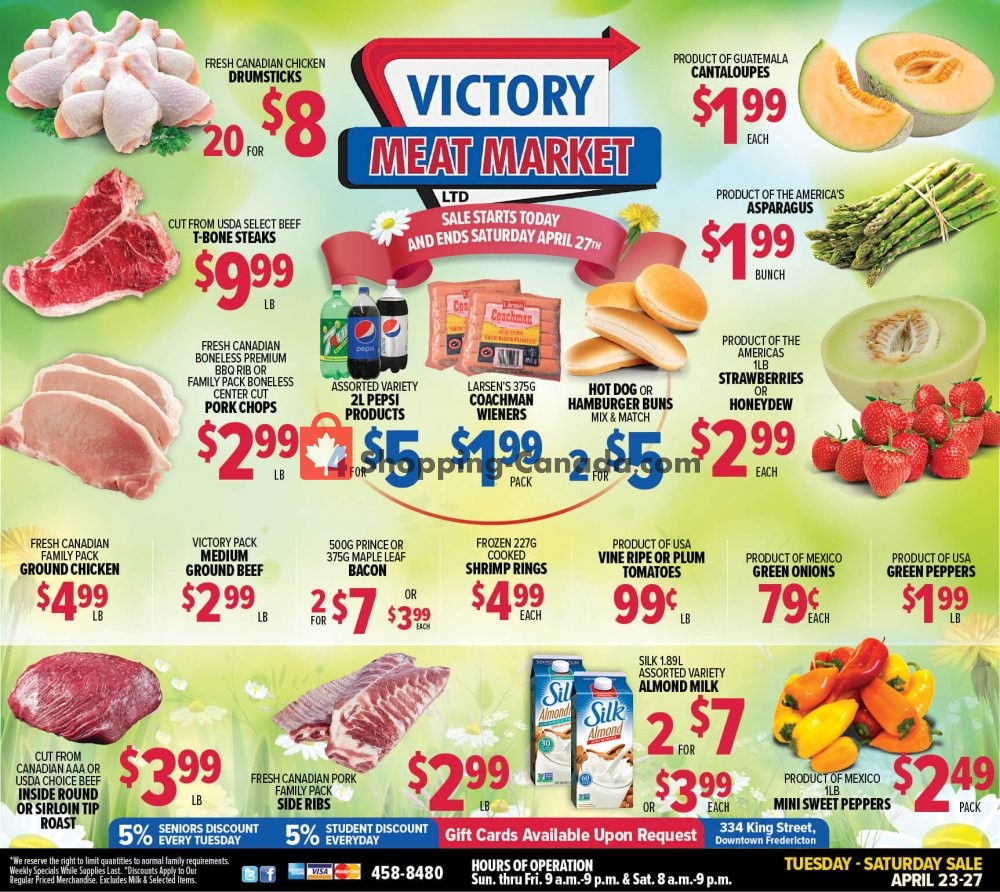 Flyer Victory Meat Market  Canada - from Tuesday April 23, 2019 to Saturday April 27, 2019