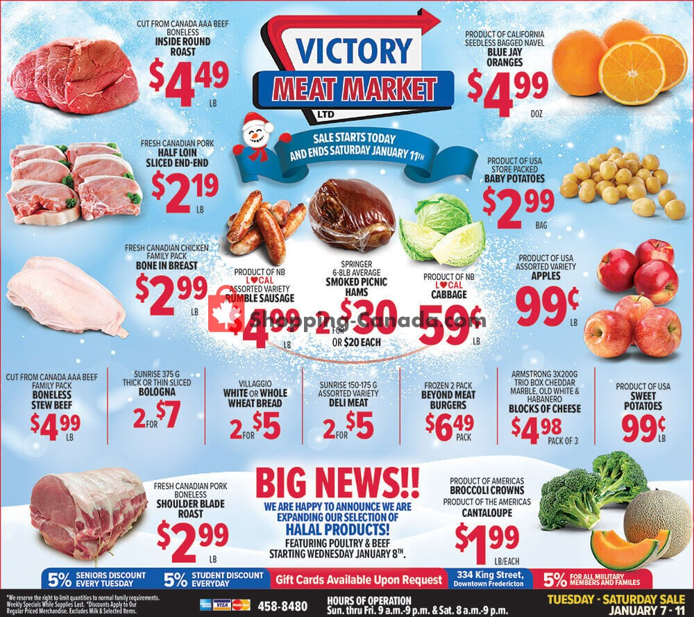 Flyer Victory Meat Market  Canada - from Tuesday January 7, 2020 to Saturday January 11, 2020