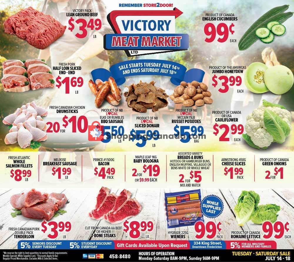 Flyer Victory Meat Market  Canada - from Tuesday July 14, 2020 to Saturday July 18, 2020