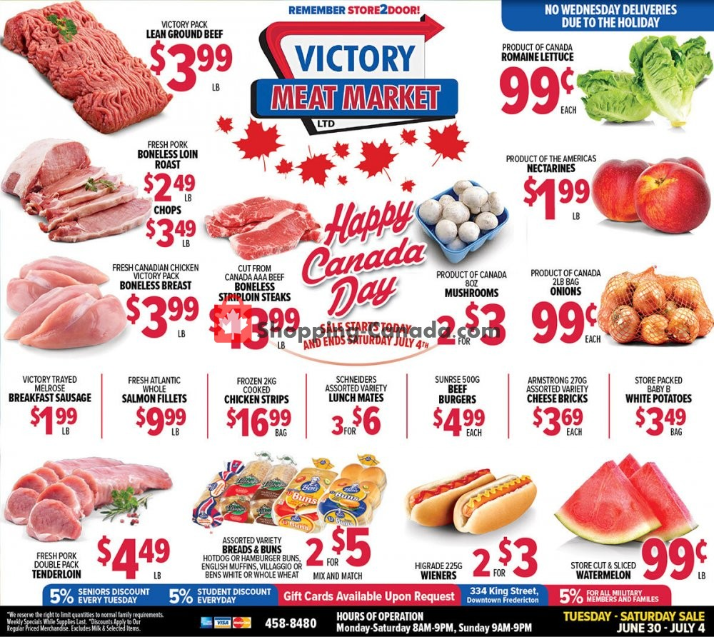 Flyer Victory Meat Market  Canada - from Tuesday June 30, 2020 to Saturday July 4, 2020