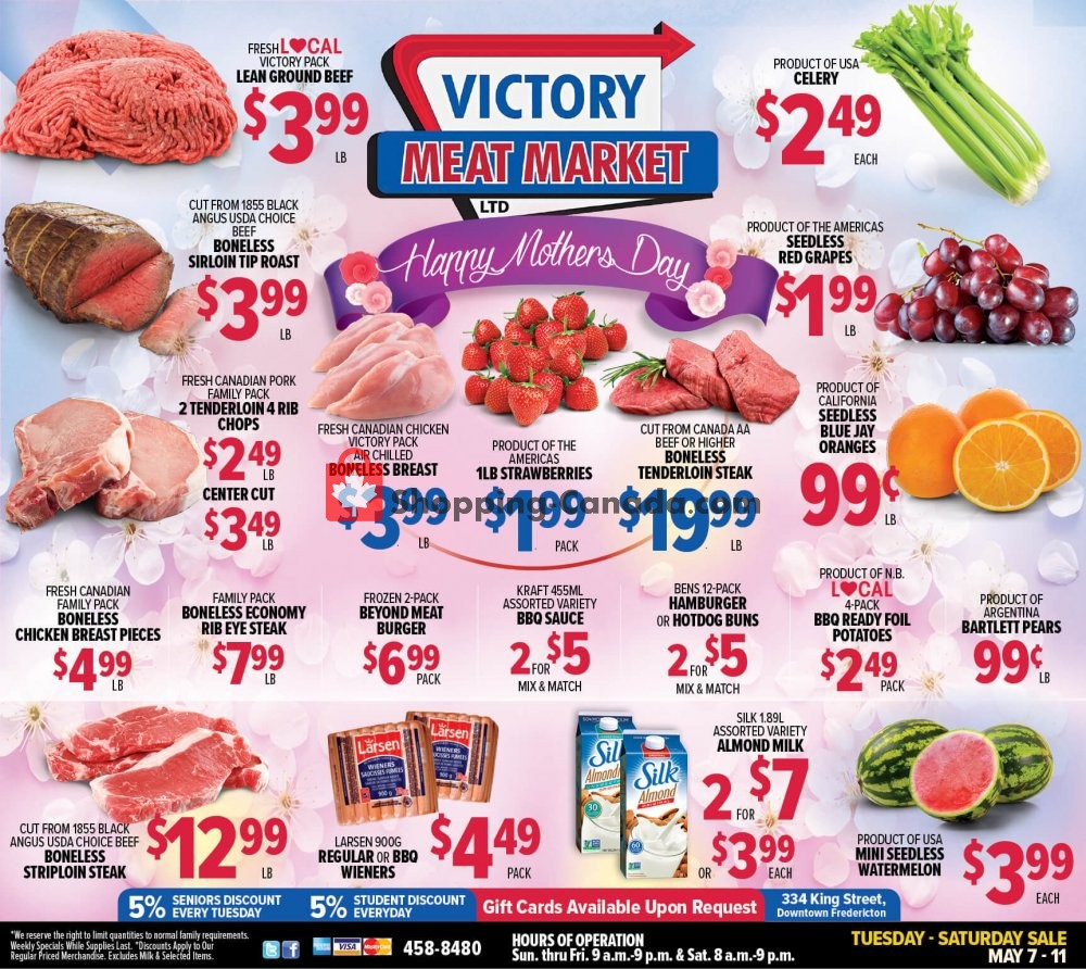 Flyer Victory Meat Market  Canada - from Tuesday May 7, 2019 to Saturday May 11, 2019