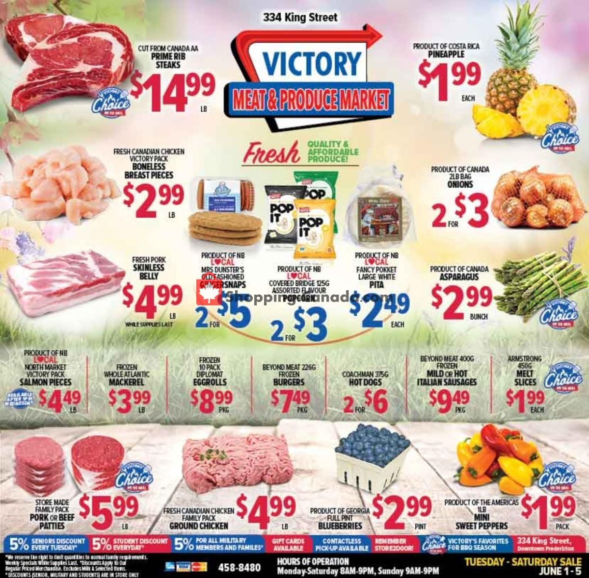 Flyer Victory Meat Market  Canada - from Tuesday June 1, 2021 to Saturday June 5, 2021