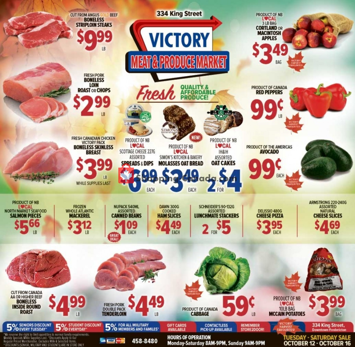 Flyer Victory Meat Market  Canada - from Tuesday October 12, 2021 to Saturday October 16, 2021