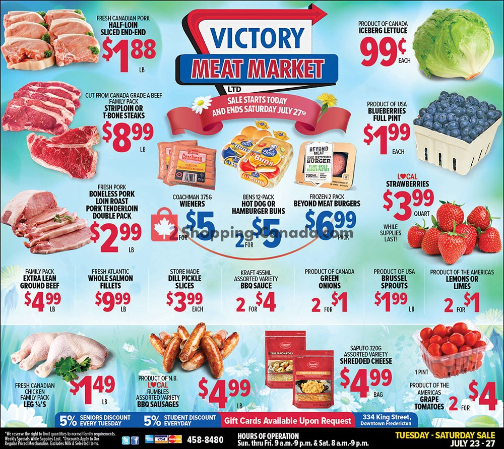 Flyer Victory Meat Market  Canada - from Tuesday July 23, 2019 to Saturday July 27, 2019