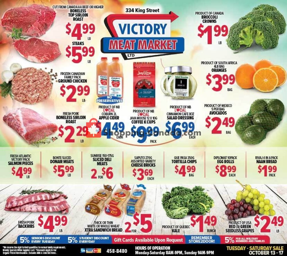 Flyer Victory Meat Market  Canada - from Tuesday October 13, 2020 to Saturday October 17, 2020