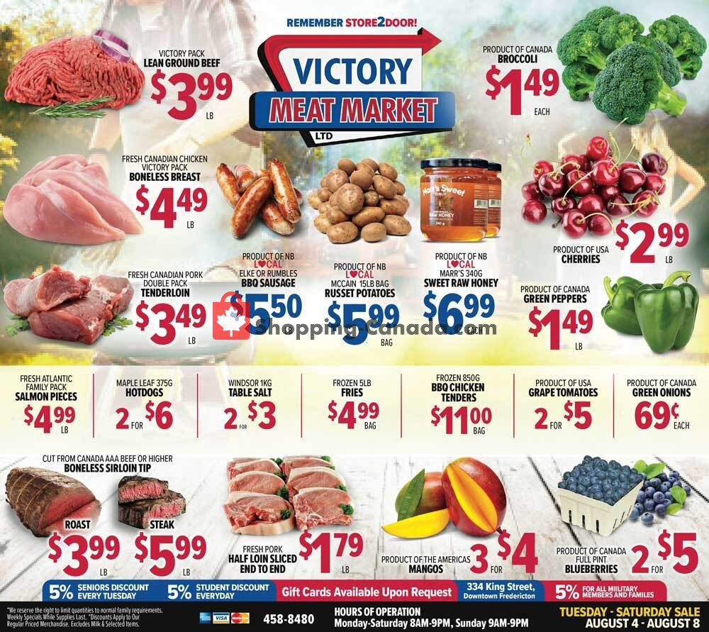 Flyer Victory Meat Market  Canada - from Tuesday August 4, 2020 to Saturday August 8, 2020