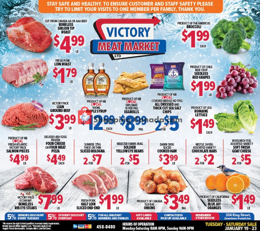 Flyer Victory Meat Market  Canada - from Tuesday January 19, 2021 to Saturday January 23, 2021