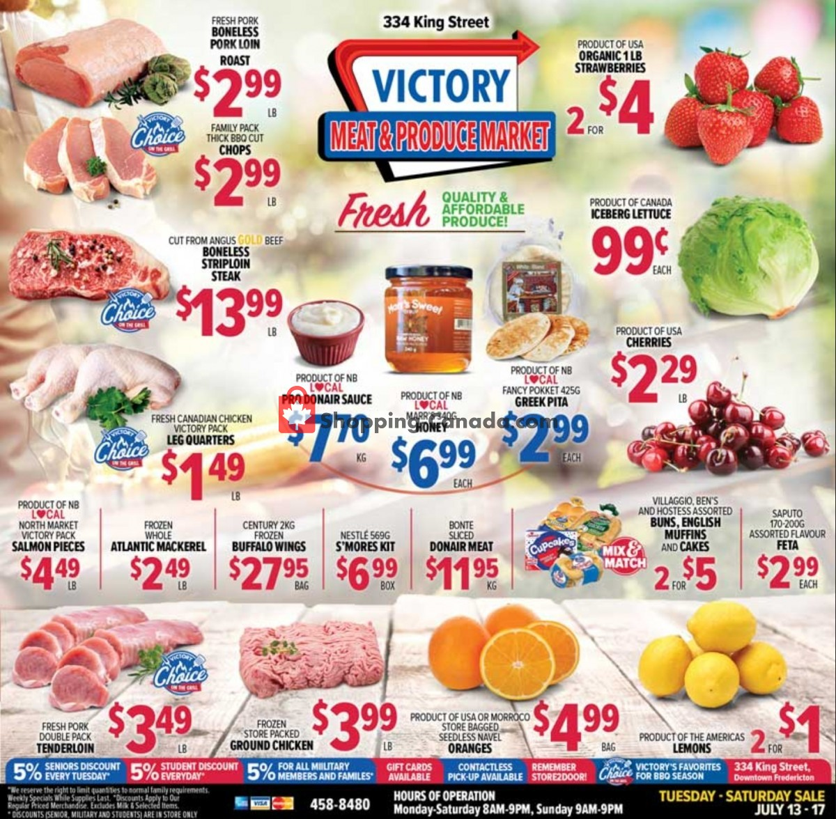Flyer Victory Meat Market  Canada - from Tuesday July 13, 2021 to Saturday July 17, 2021