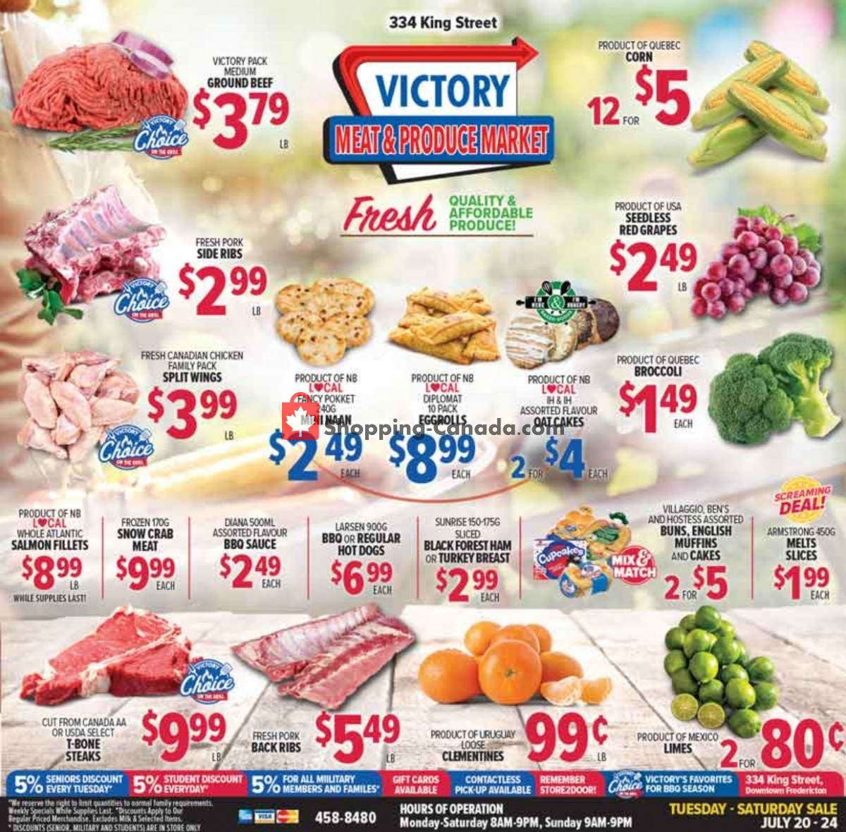 Flyer Victory Meat Market  Canada - from Tuesday July 20, 2021 to Saturday July 24, 2021