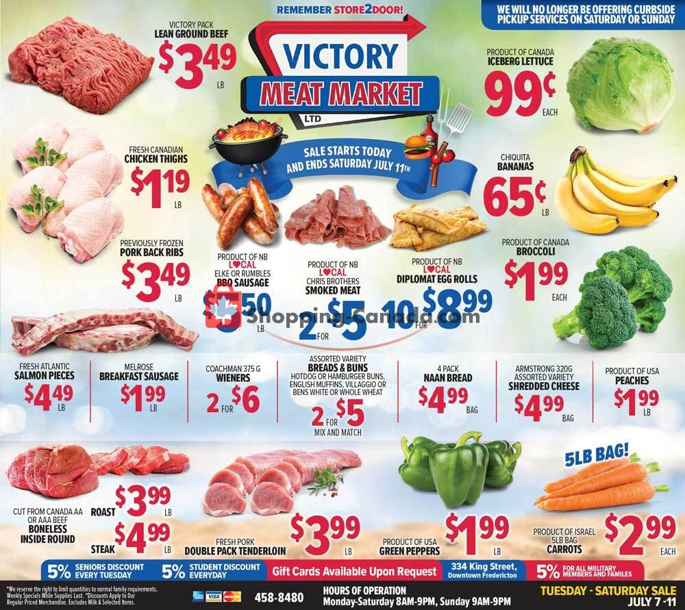 Flyer Victory Meat Market  Canada - from Tuesday July 7, 2020 to Saturday July 11, 2020