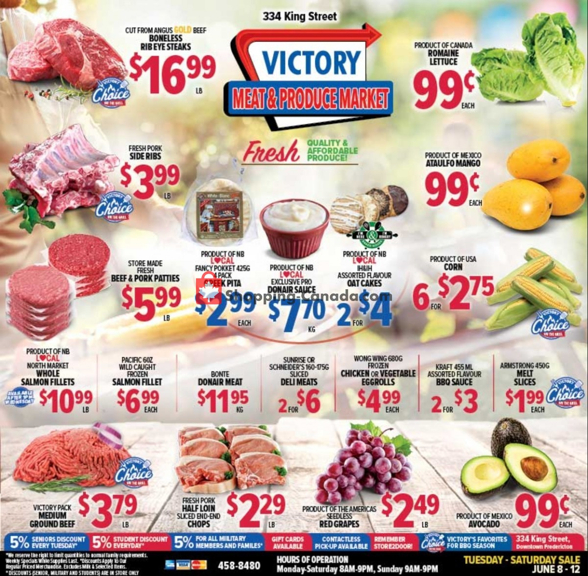 Flyer Victory Meat Market  Canada - from Tuesday June 8, 2021 to Saturday June 12, 2021
