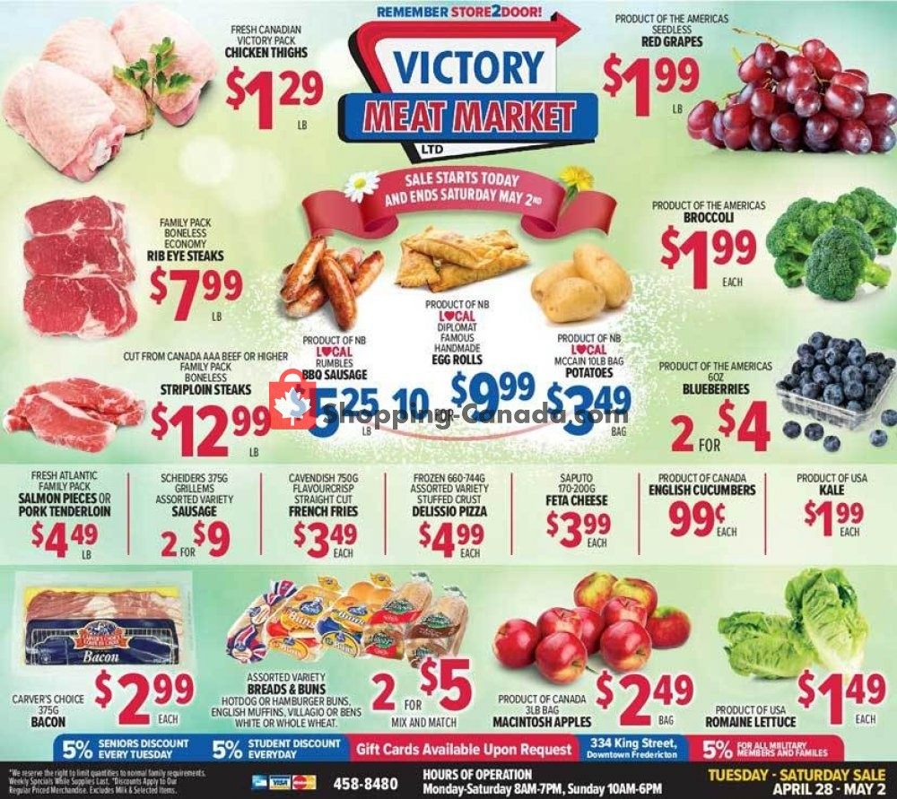 Flyer Victory Meat Market  Canada - from Tuesday April 28, 2020 to Saturday May 2, 2020