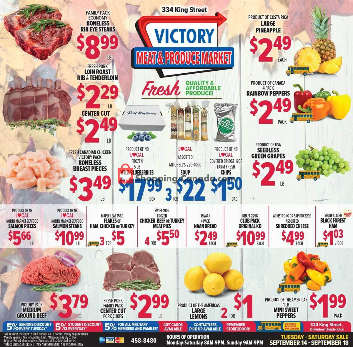 Flyer Victory Meat Market  Canada - from Tuesday September 14, 2021 to Saturday September 18, 2021